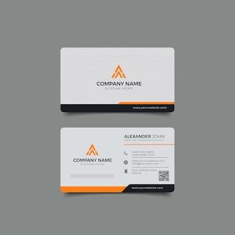 Moderne visitenkarte weiß und gelb corporate professional