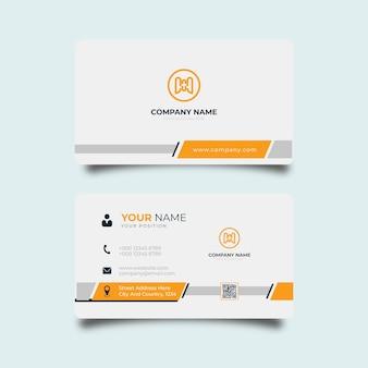 Moderne visitenkarten-design weiße und schwarze vorlage