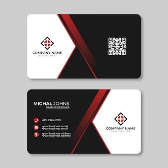Moderne visitenkartenvorlage. persönliche visitenkarte mit firmenlogo.