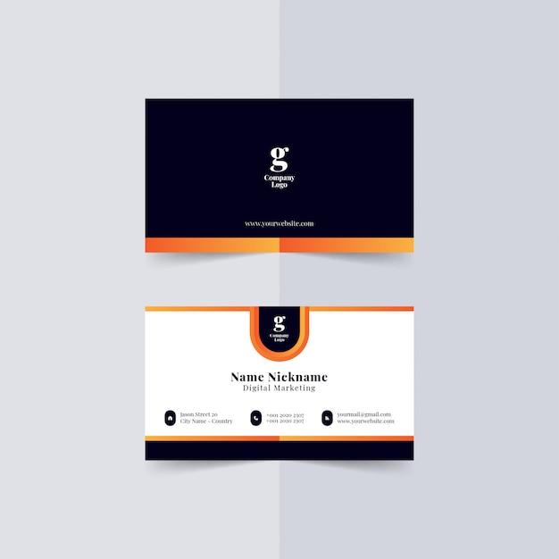 Moderne visitenkartenvorlage premium