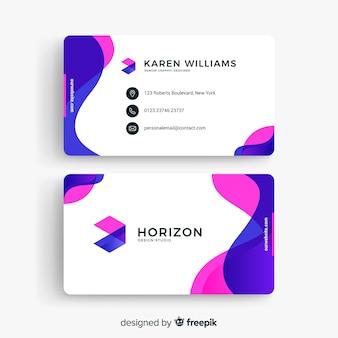 Moderne Visitenkarteschablone mit abstrakten Formen