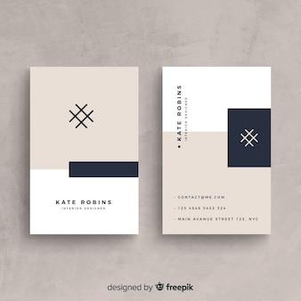 Moderne Visitenkarteschablone mit eleganter Art