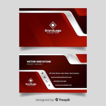 Moderne Visitenkarteschablone mit geometrischem Design