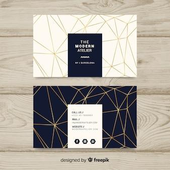 Moderne Visitenkarteschablone mit geometrischen Formen
