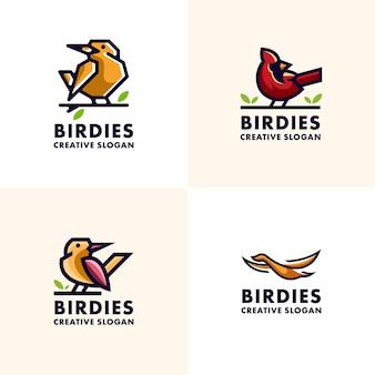 Moderne vogel set sammlung logo vorlage
