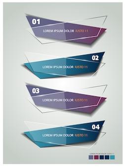 Moderne vorlage banner infografiken