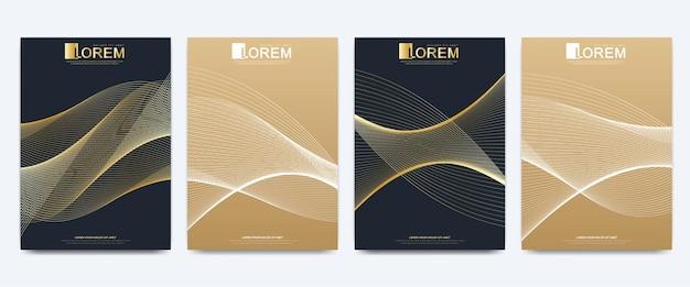 Moderne vorlage für broschürenillustration