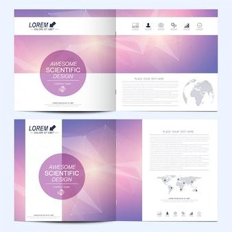 Moderne vorlagen. design für wirtschaft, wissenschaft und technologie.