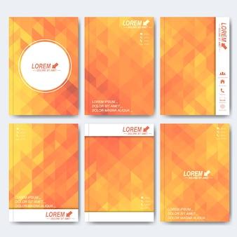 Moderne vorlagen für broschüre, flyer, titelmagazin