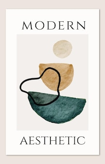 Moderne wandkunst mit abstrakten organischen acrylformen minimalistisches poster