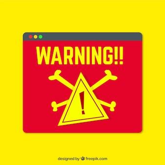 Moderne warnung pop-up mit flachem design
