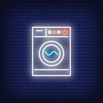 Moderne waschmaschine leuchtreklame