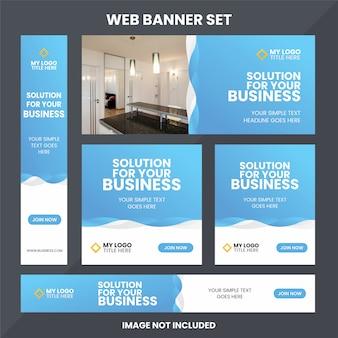 Moderne web-banner-anzeigensatz-schablone