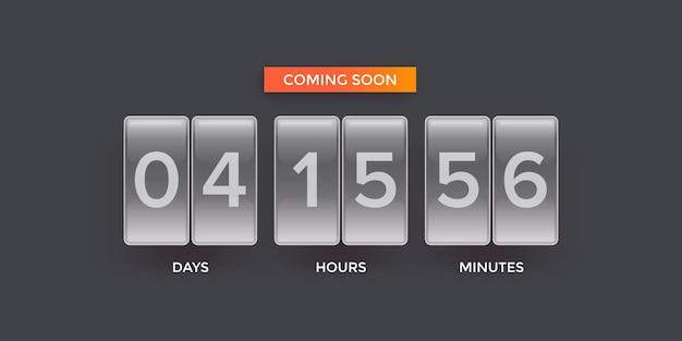 Moderne webbanner-vorlage mit countdown