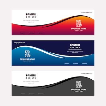 Moderne webbanner-vorlage mit diagonalen elementen für ein foto. universelles design für das werbegeschäft