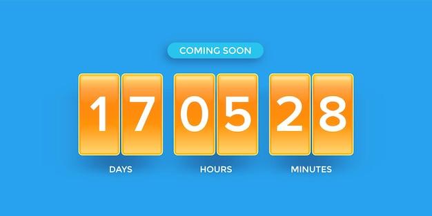 Moderne webseitenvorlage mit countdown