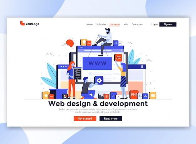 Moderne website-vorlage - webdesign und -entwicklung
