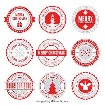 Moderne weihnachtsabzeichen-sammlung