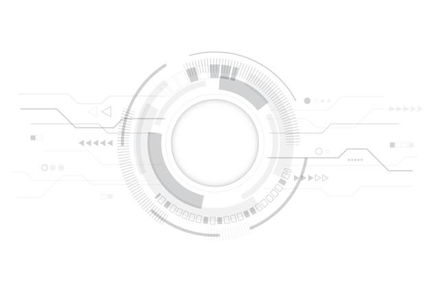Moderne weiße technologietapete