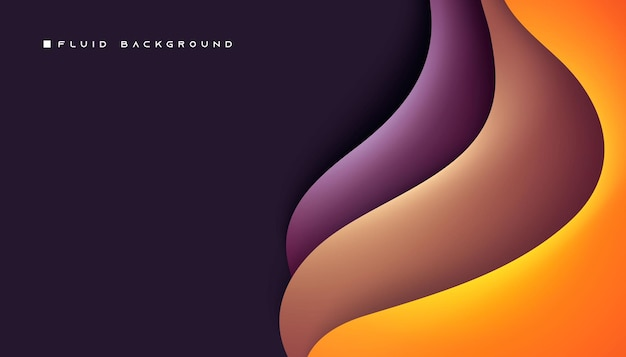 Moderne wellenförmige dimension schichten hintergrund glatter farbverlauf