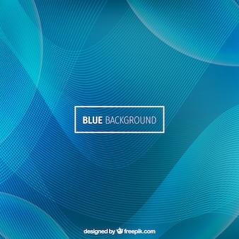 Moderne wellenförmige hintergrund, blaue farbe
