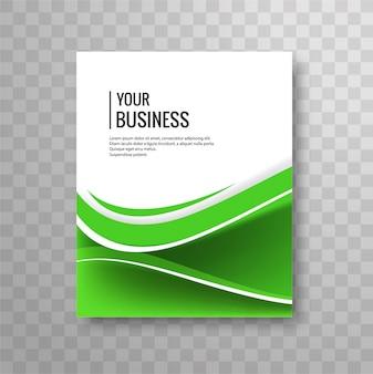 Moderne, wellige business-broschüre
