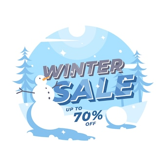 Moderne winter sale banner landschaft