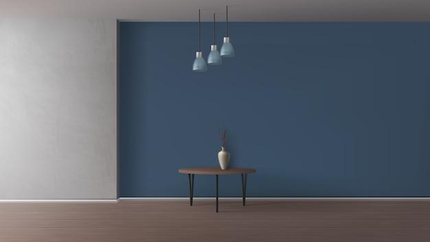 Moderne wohnung, wohnzimmer, galerie oder café minimalistisch