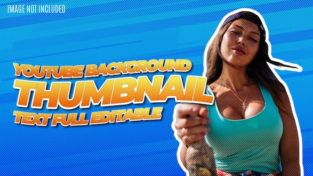 Moderne youtube thumbnail hintergrund design vorlage mit awesome text effect editable
