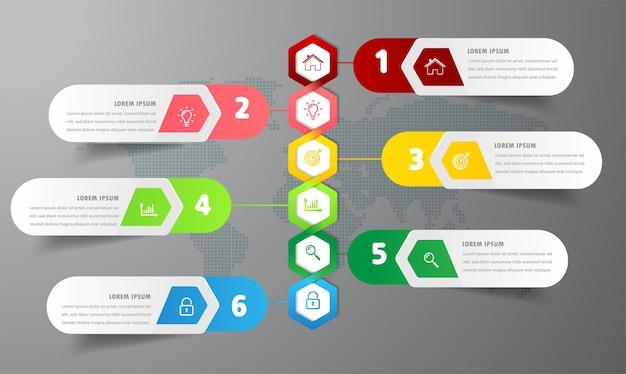 Moderne zeitachse textfeld vorlage infografik banner Premium Vektoren