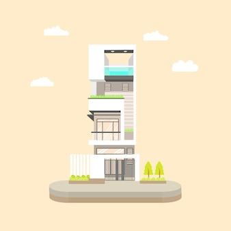 Moderne zeitgenössische villa