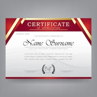 Moderne zertifikat designvorlage