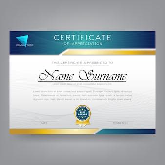 Moderne zertifikat-entwurfsvorlage