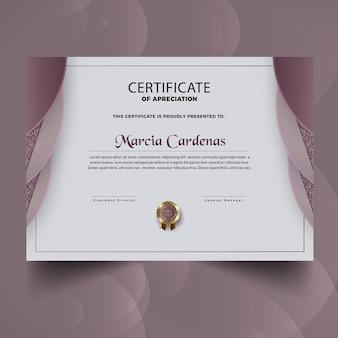 Moderne zertifikatsvorlage