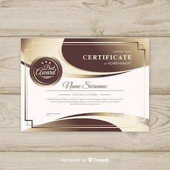 Moderne zertifikatvorlage mit abstrakten formen