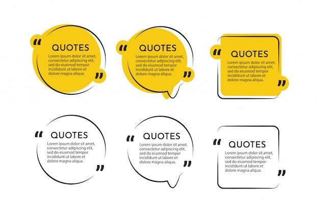Moderne zitate kommunikation und testimonial vorlage design-vorlage.