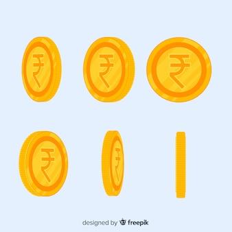 Moderne zusammensetzung der indischen rupien