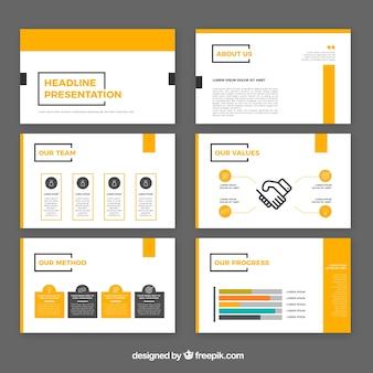 Modernen business-präsentation vorlage