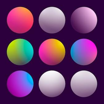 Moderner 3d-farbverlauf mit runden abstrakten hintergründen