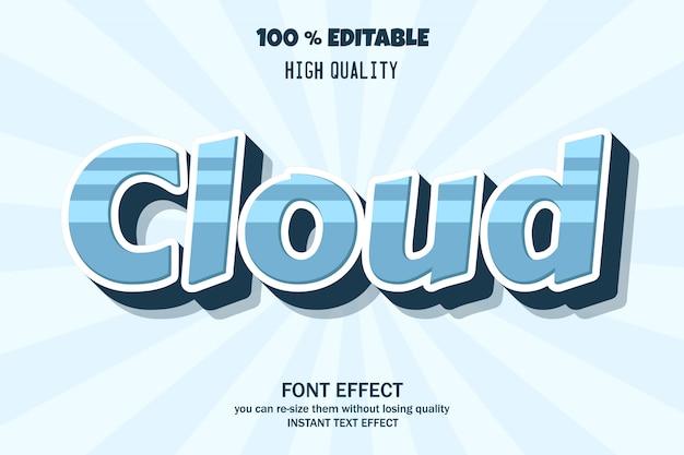 Moderner 3d-texteffekt, bearbeitbarer schrifteffekt
