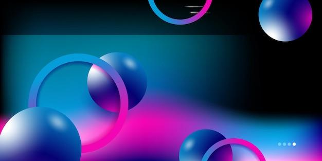 Moderner abstrakter 3d-hintergrund mit geschäfts- und unternehmenskonzept für präsentationsdesign-vorlage. farbverlauf lebendige kontrastfarbe