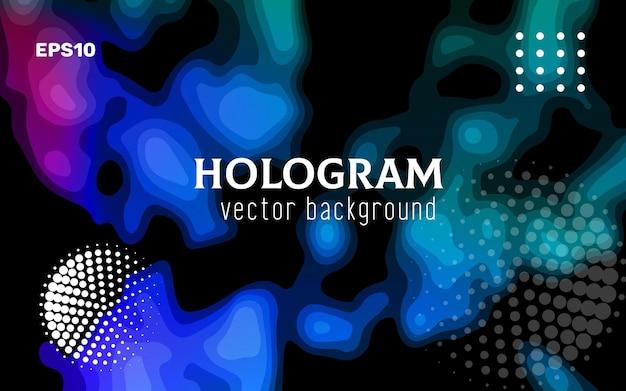 Moderner abstrakter bunter hintergrund ähnlich dem bild einer wärmebildkamera, eines scanners, eines tomographen usw. 3d-stereoeffekt trendiges 3d-poster, tolles design für jeden zweck.