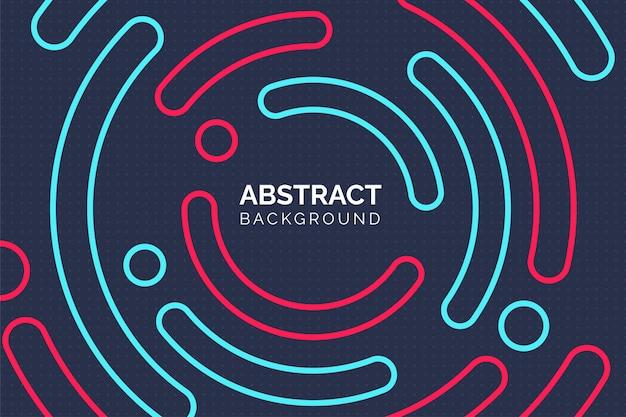 Moderner abstrakter bunter kreishintergrund mit halbfarbenen halbkreispunkten.