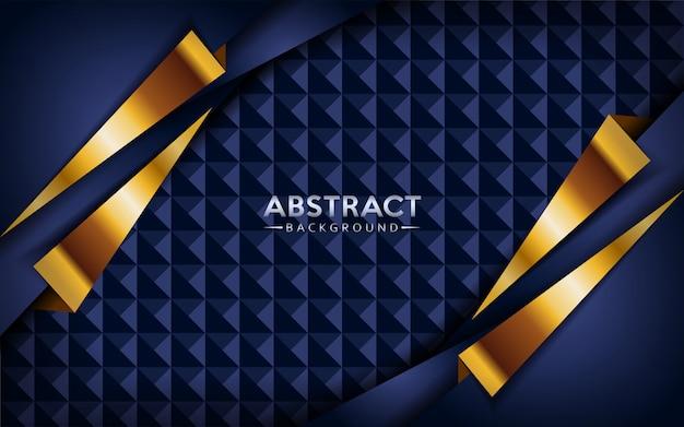 Moderner abstrakter dunkler marineblauhintergrund mit goldenen linien.