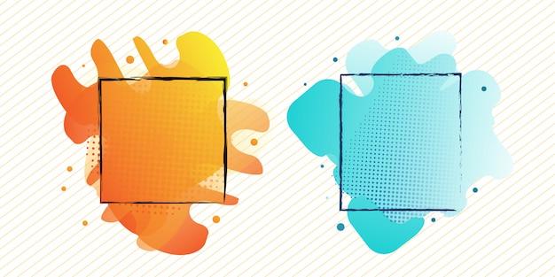 Moderner abstrakter flüssiger rahmendesignsatz