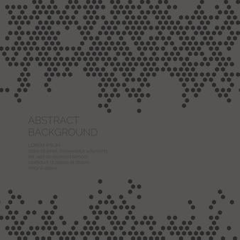 Moderner abstrakter geometrischer kaleidoskophintergrund. vektorvorlage für textseite für die präsentation.
