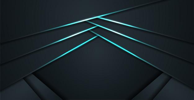 Moderner abstrakter glänzender blauer hintergrund