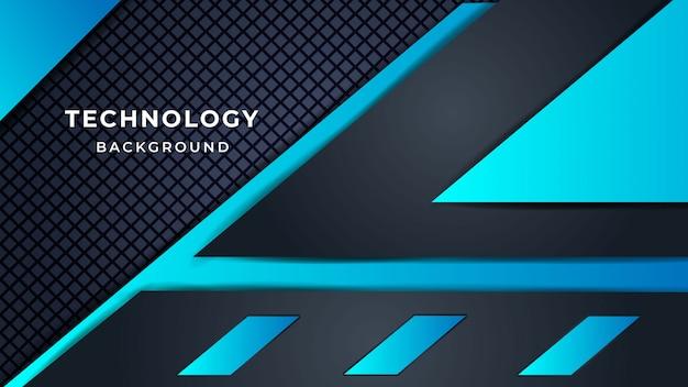 Moderner abstrakter gradient-futuristischer technologie-hintergrund