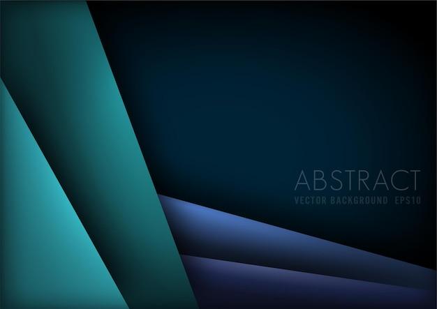Moderner abstrakter grüner und blauer hintergrund