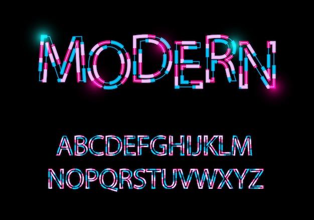 Moderner abstrakter guss trendige art verzerrtes schriftbild